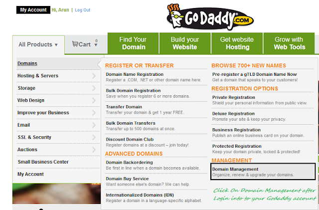 How To Set Up Godaddy Custom Domain for Blogger Blogs
